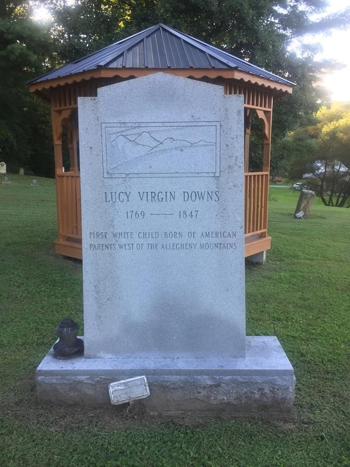 Newest headstone indicating the grave of Lucy Virgin Downs. Photo Courtesy: Linda Wellman
