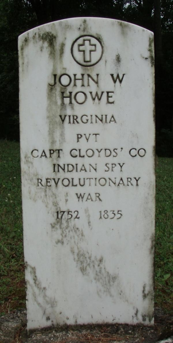 Grave of John W. Howe, another Revolutionary War participant. Photo