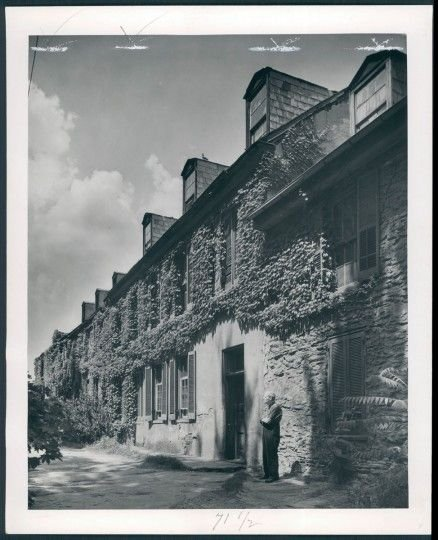 Historic black and white photo of the Robert Harper House