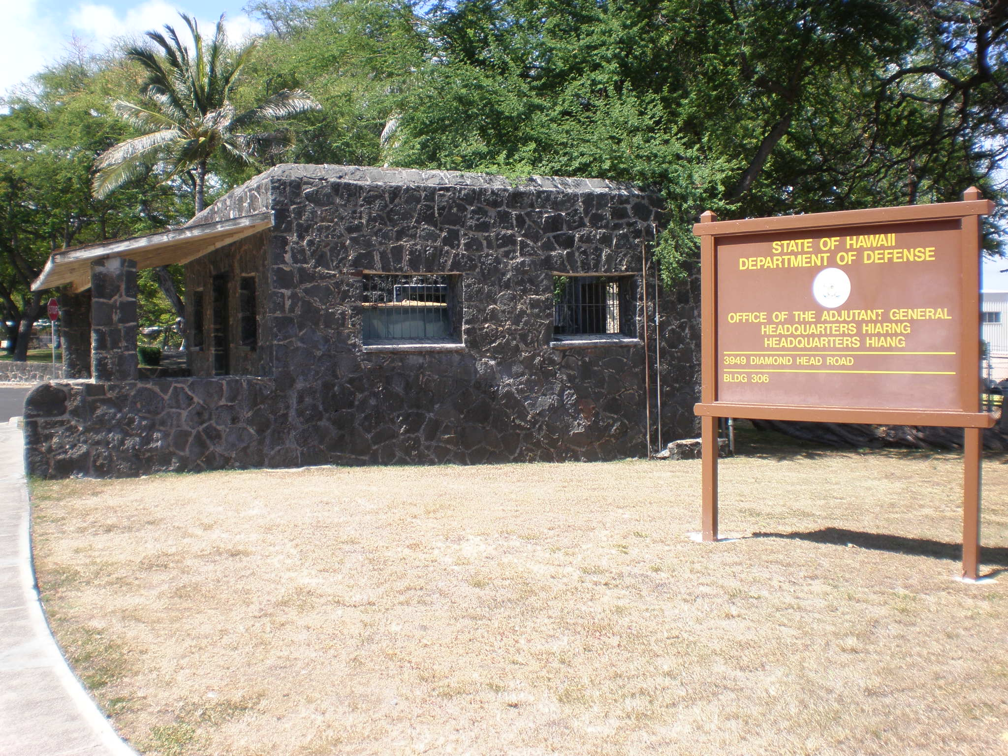 Original guard post located on Kahala side of crater
