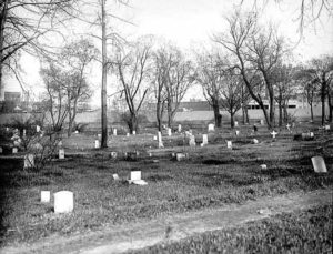 The cemetery as it appeared in 1925, when it was still known as Layman's Cemetery