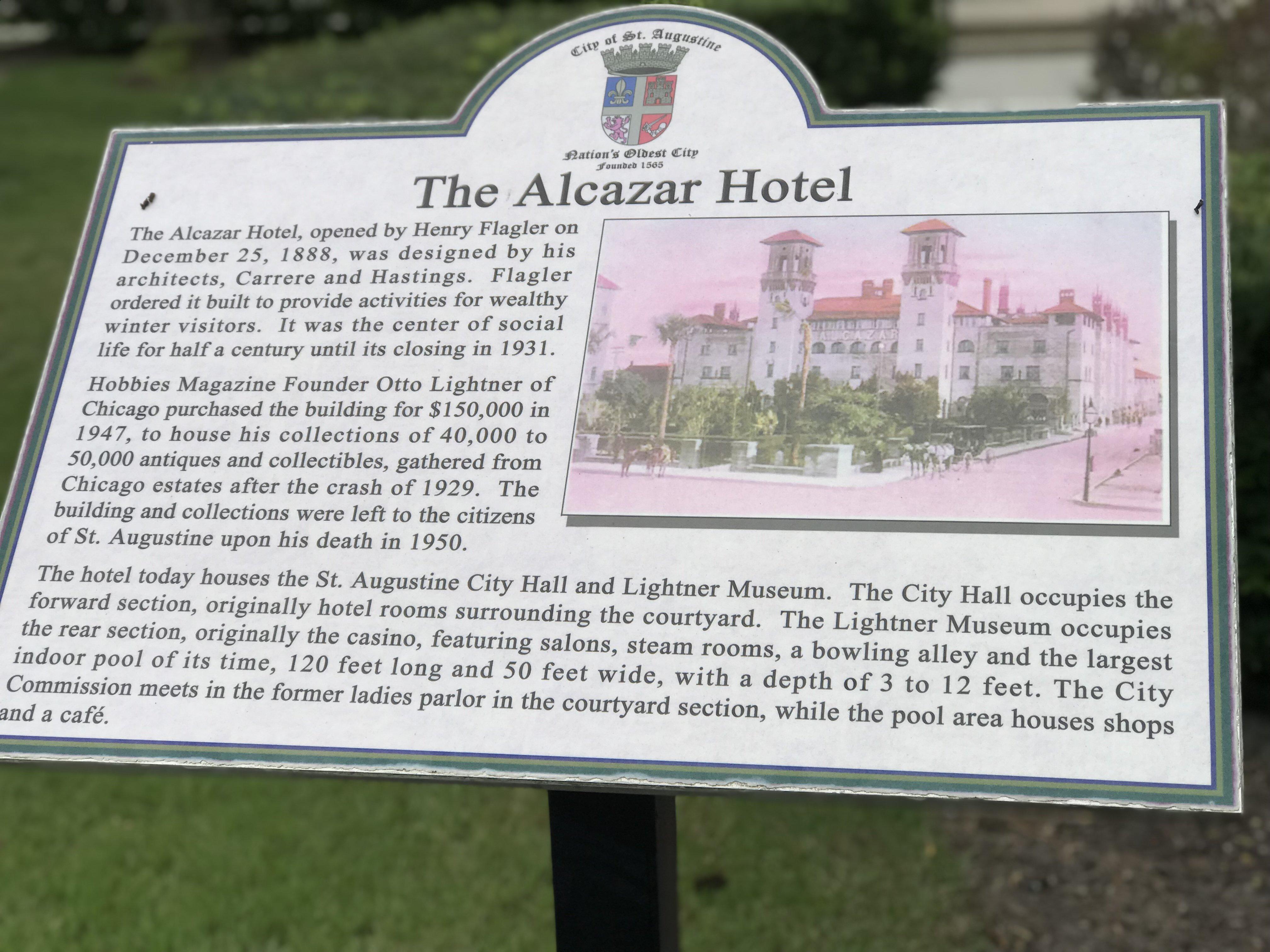 Information plaque.