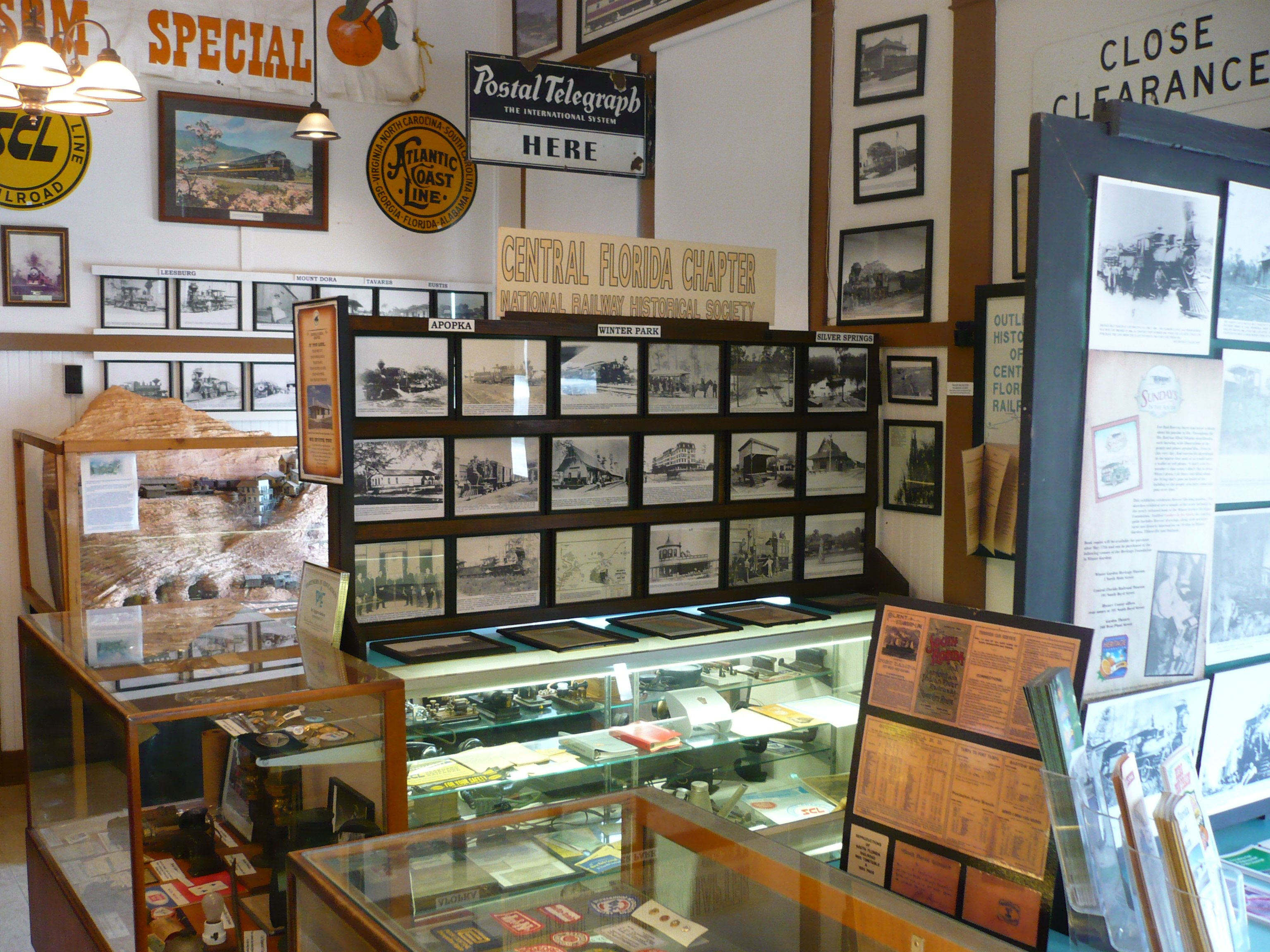 Historical pictures and artifacts that can be seen in the Winter Garden Heritage Museum.