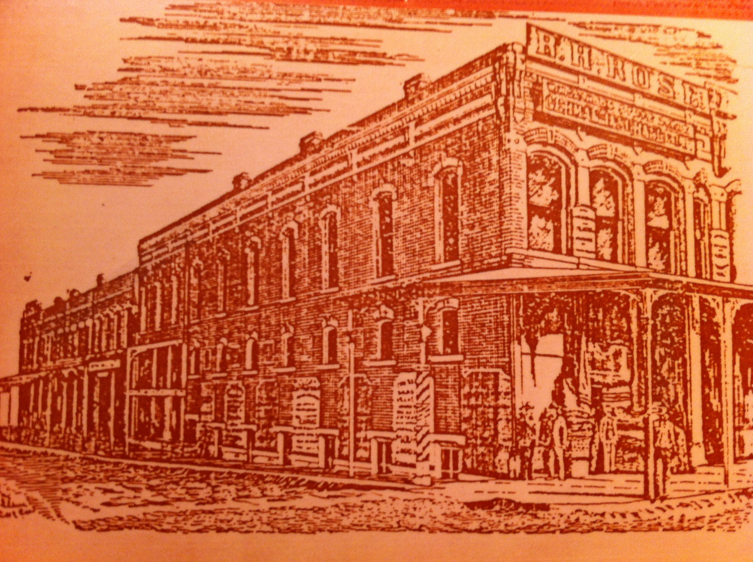Damon Building as pictured in the 1888 Carthage City Directory.