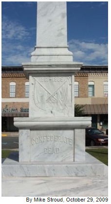 Waycross Confederate Monument- South face photograph
