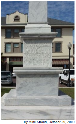 Waycross Confederate Monument- East face