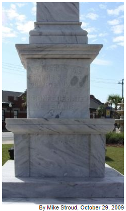 Waycross Confederate Monument- North face
