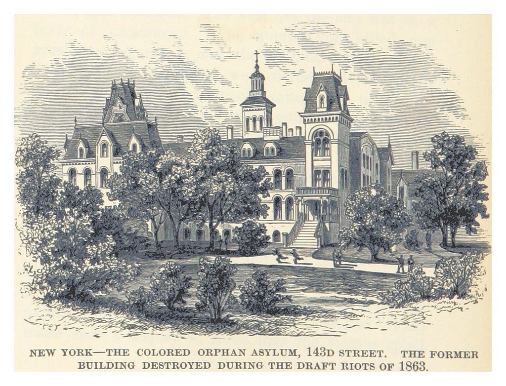After the riots, many African Americans moved to other areas of the city and the orphanage was rebuilt at 143rd street in 1868.