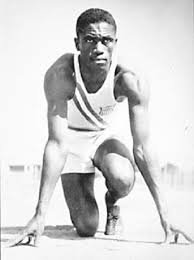 Mack Robinson prepares to run in the 1936 Berlin games against track star Jesse Owens.