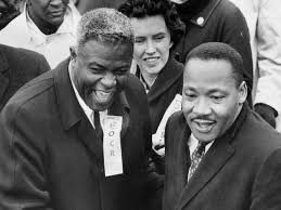 Jackie Robinson alongside Martin Luther King Jr,