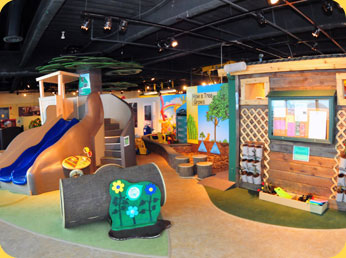 The Pocket Park exhibit is geared towards infants and preschoolers; it teaches children about the protecting the environment.
