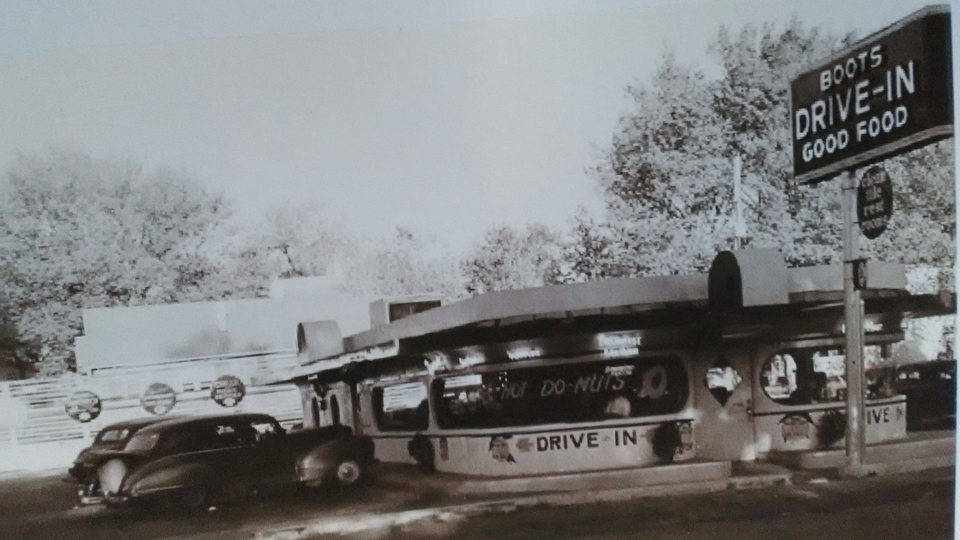 Postcard of Boots Drive-in.