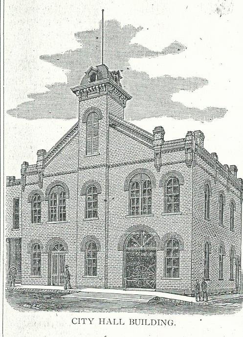 City Hall as it appeared in 1885 Carthage City Directory.