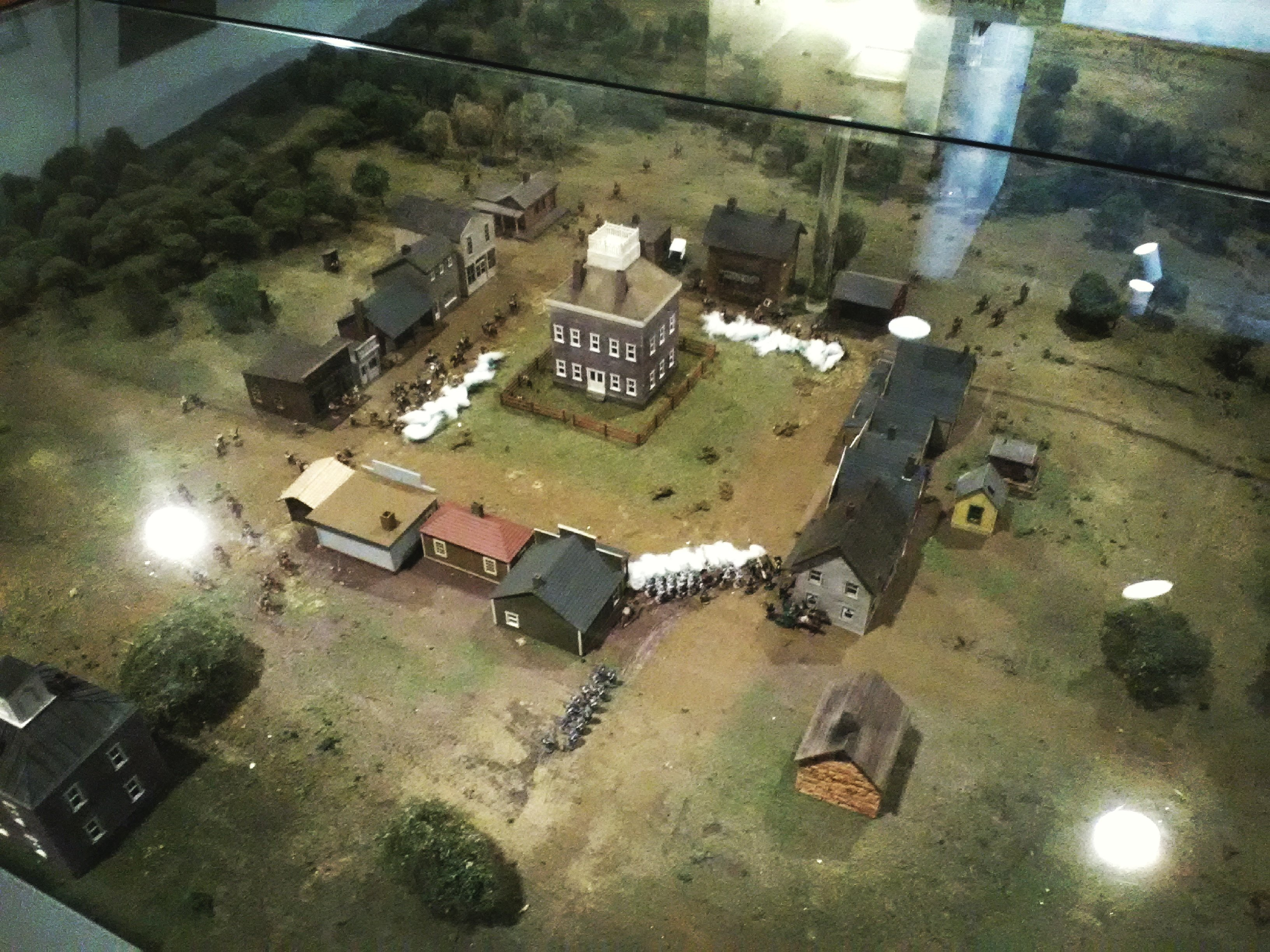 Diorama of pre-Civil War Carthage courthouse square on view at Civil War Museum.
