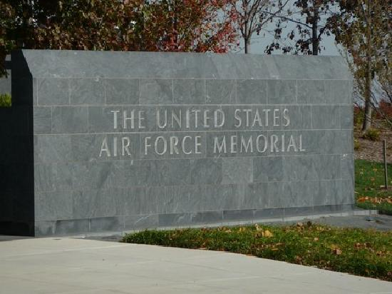 The entrance at the U.S. Air Force Memorial