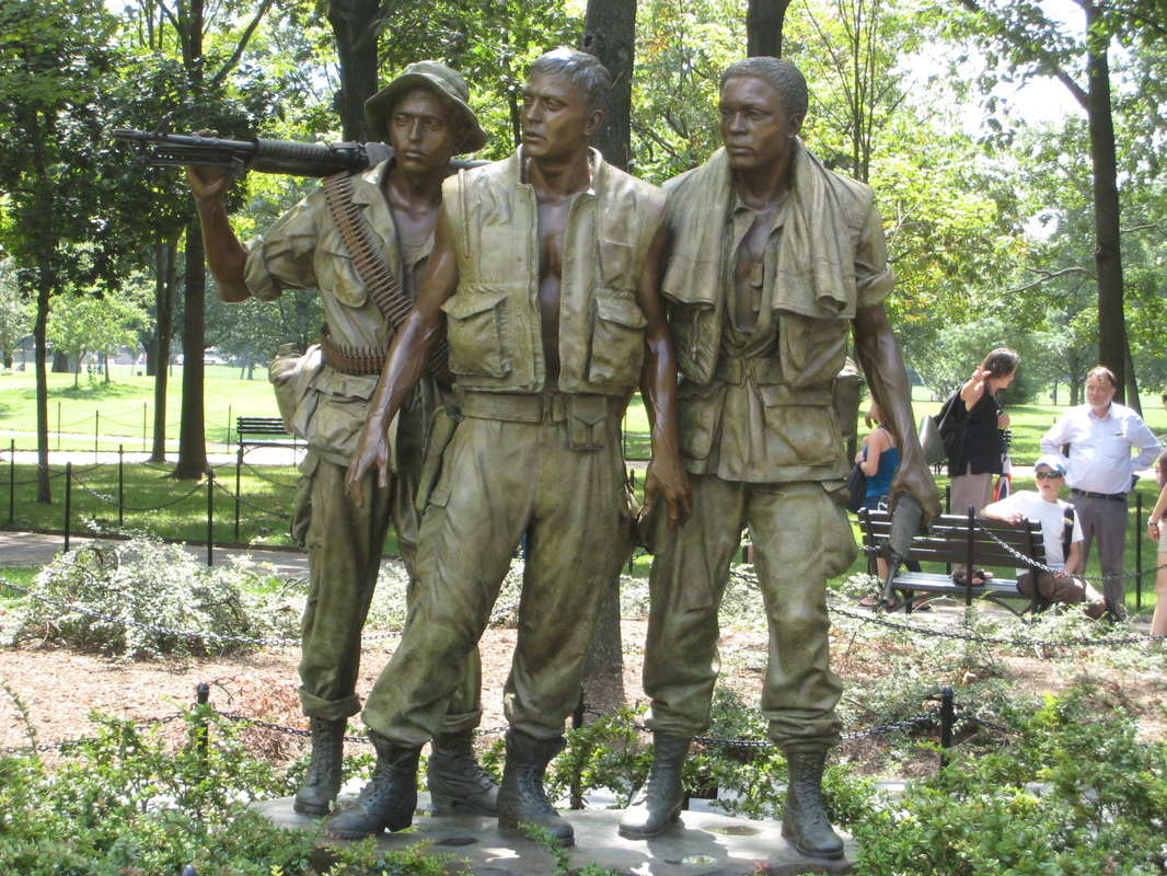 Front view of The Three Soldiers