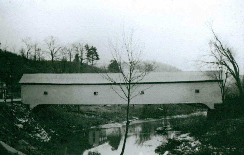 West Union Covered Bridge before the Flood of 1950
