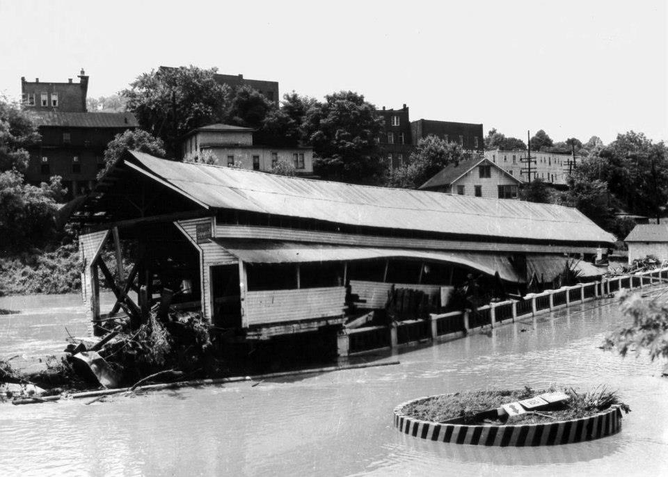 Bridge after the flooding