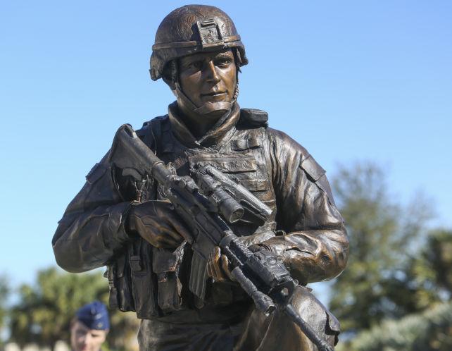 Closeup of statue