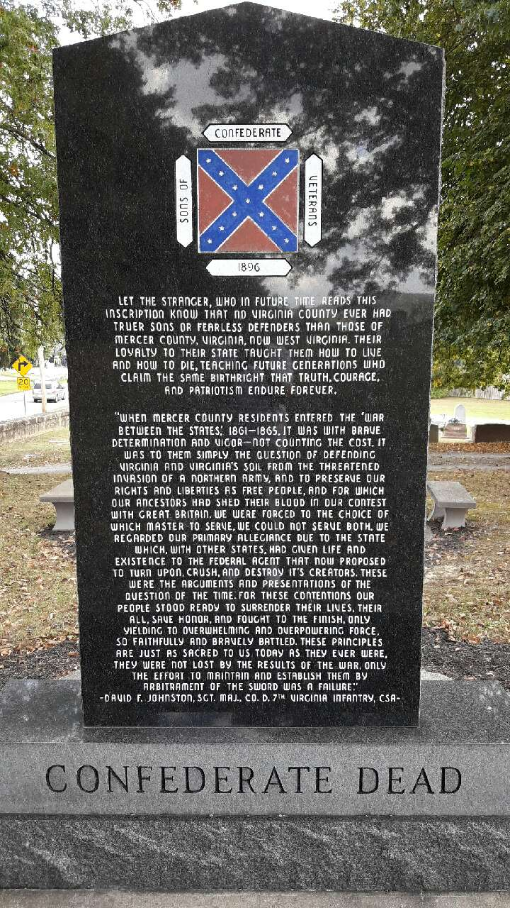 The back of the Confederate Memorial