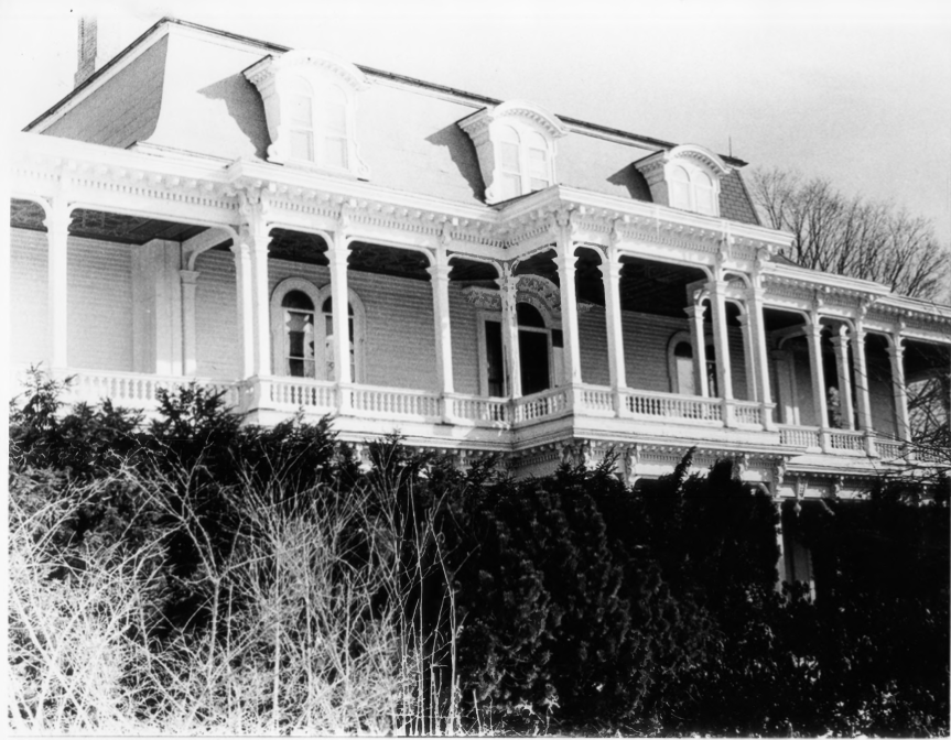 Alternate View of the Exterior of the Charles E. Tilton Mansion by Allan and Celia Willis in January of 1981
