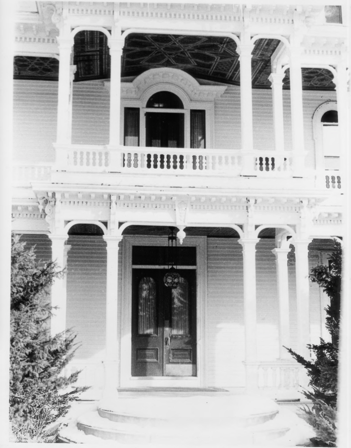 Front of the Charles E. Tilton Mansion by Allan and Celia Willis in January of 1981