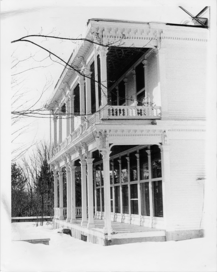 Third View of the Exterior of the Charles E. Tilton Mansion by Allan and Celia Willis in January of 1981