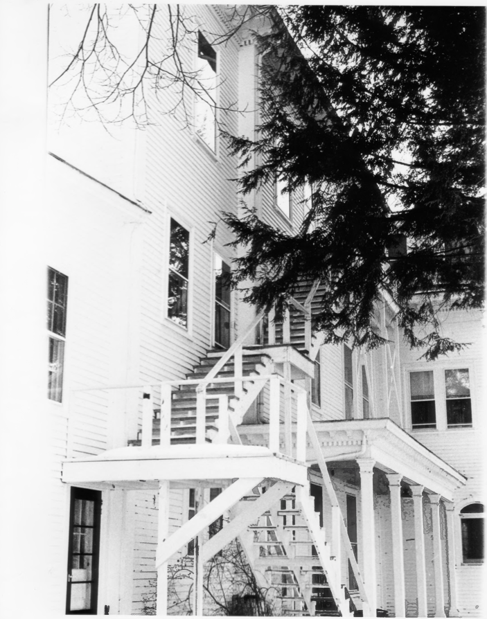 Added Fire Escape on the Charles E. Tilton Mansion by Allan and Celia Willis in January of 1981