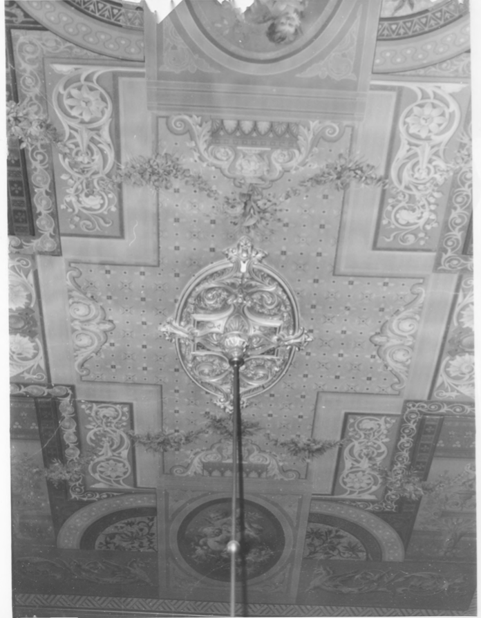 Drawing Room Ceiling of the Charles E. Tilton Mansion by Allan and Celia Willis in January of 1981