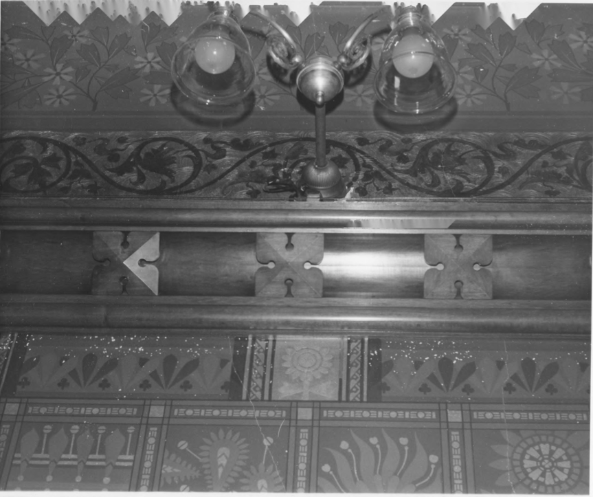 Wall Detail of the Drawing Room of the Charles E. Tilton Mansion by Allan and Celia Willis in January of 1981