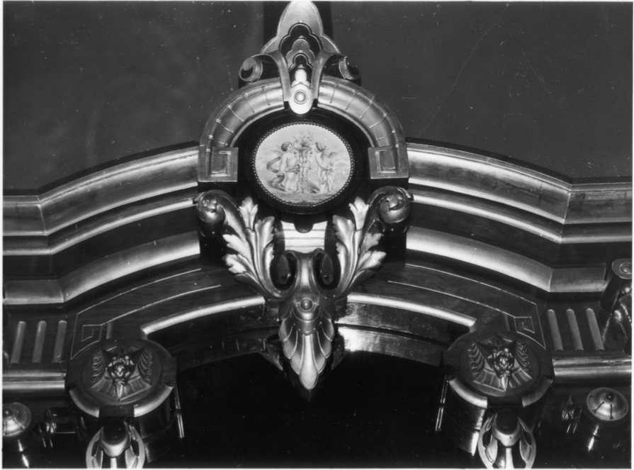 Ornate Mirror Detail in Drawing Room of the Charles E. Tilton Mansion by Allan and Celia Willis in January of 1981