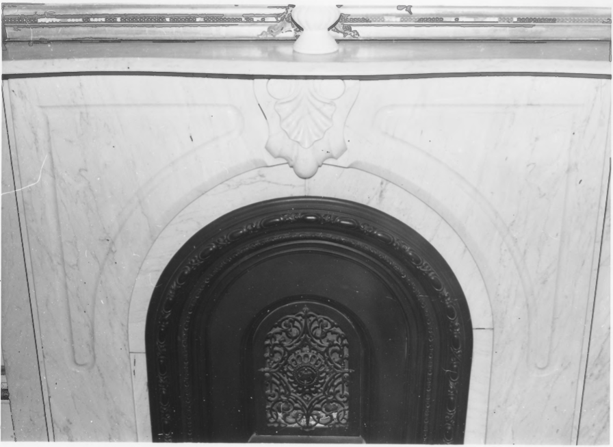 1st Floor Marble Fireplace of the Charles E. Tilton Mansion by Allan and Celia Willis in January of 1981