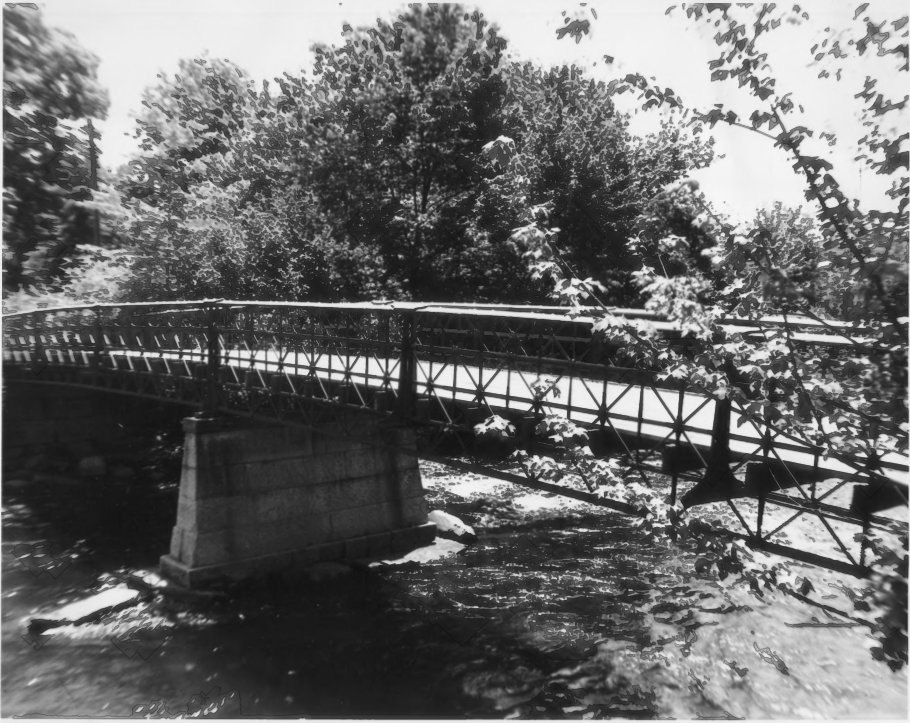 The Tilton Island Park Bridge by B. Clouette in August of 1977