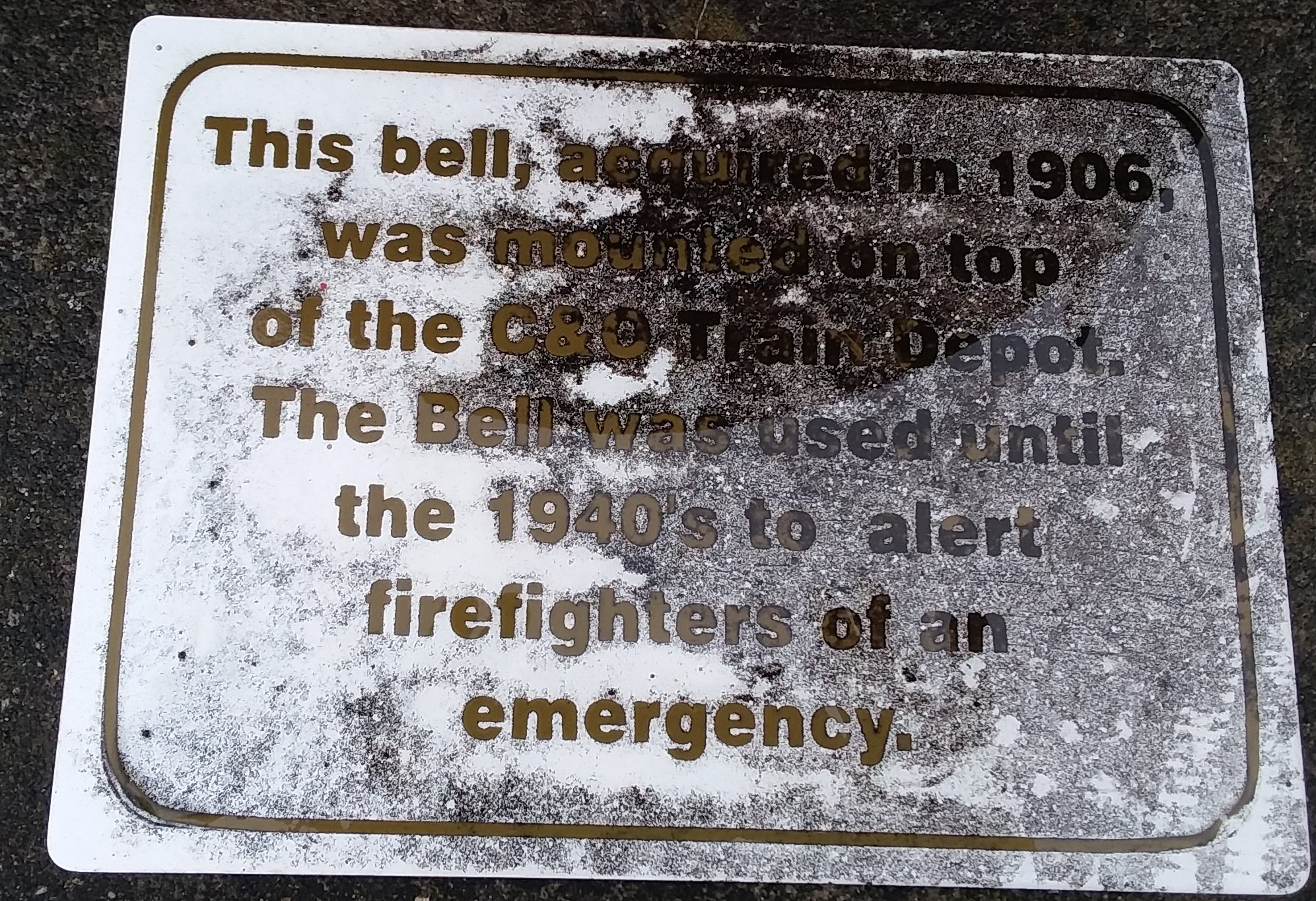 Plaque from the Fire Bell