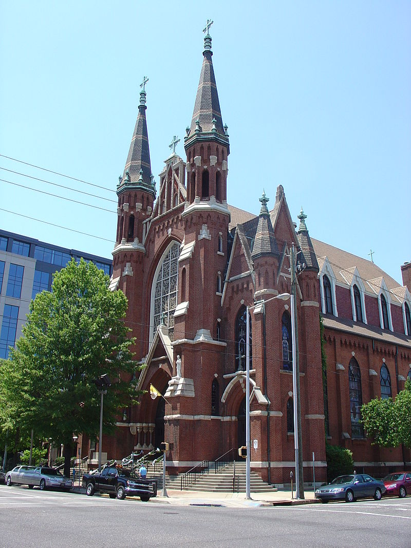 St. Paul's Cathedral was built in 1893 in the Victoria Gothic style. The congregation was founded in 1872, becoming the first Catholic church in Jefferson County.