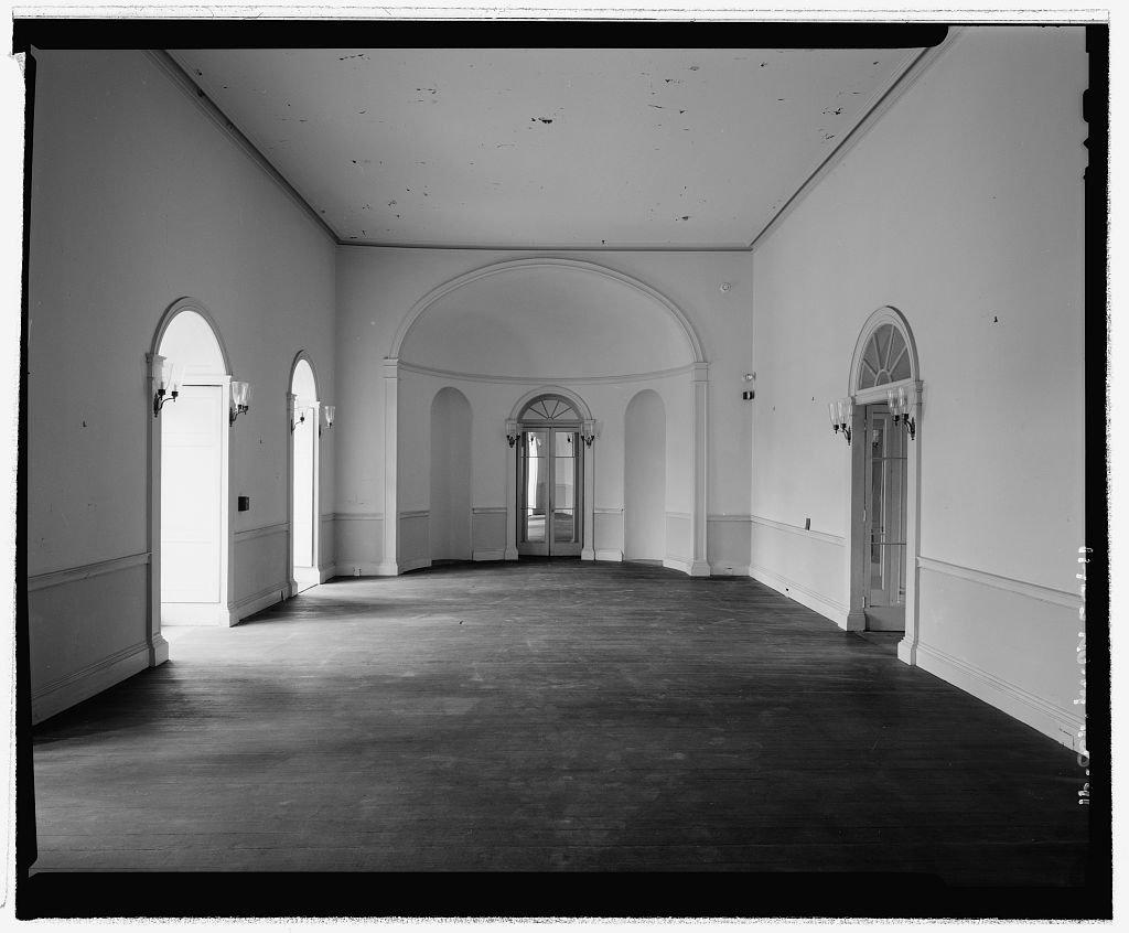 The unadorned interior of William Hamilton's mansion.