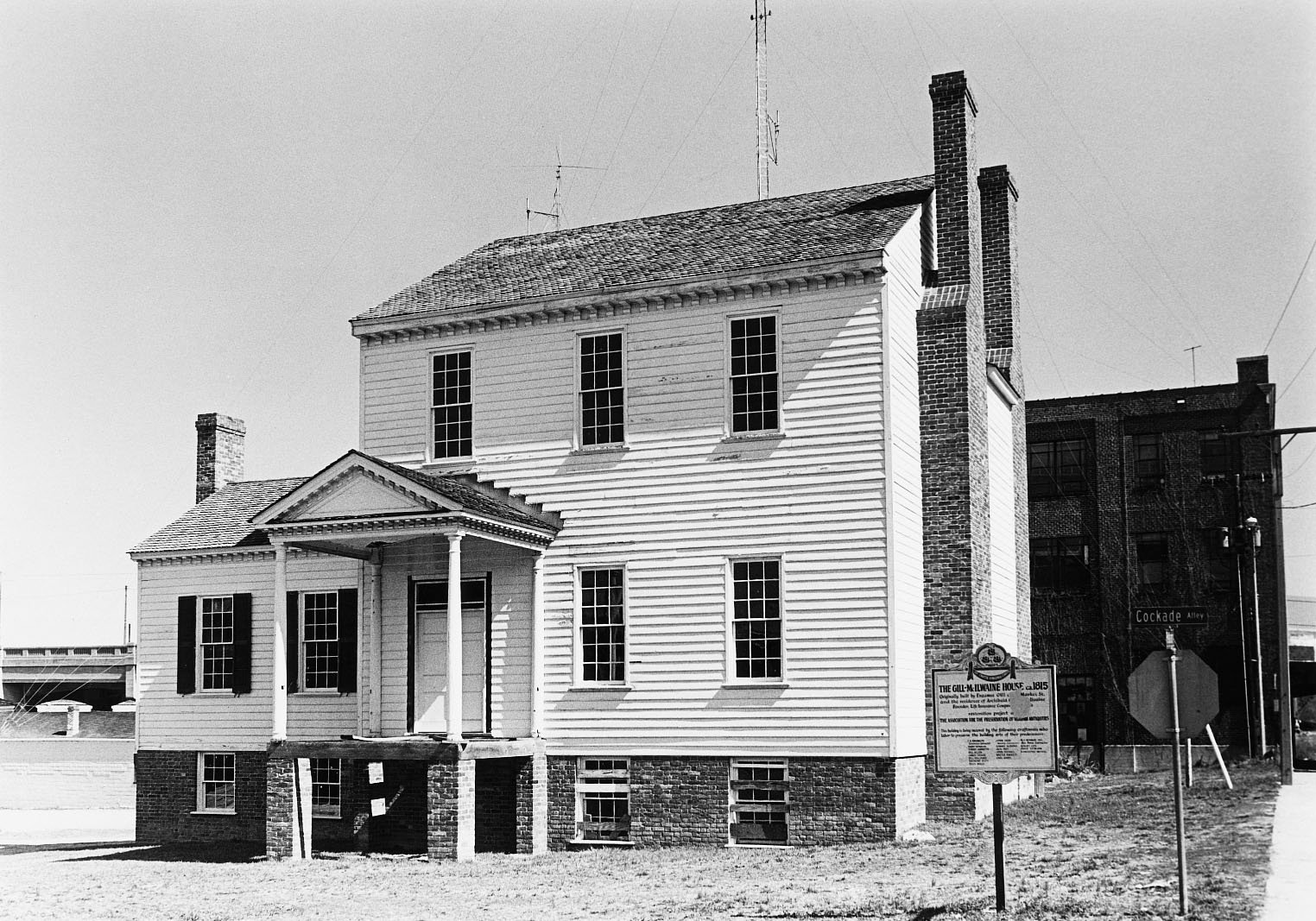 McIlwaine House at its prior location, before move to Market Square in the early 1970s