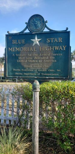 Blue Star Memorial Highway Historical Marker