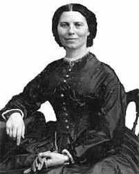 Clara Barton photographed by famed Civil War photographer Mathew Brady in 1865.