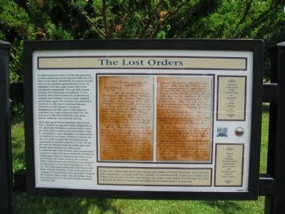 Lost Orders Marker right panel with copy of Special Order No. 191 and its contents