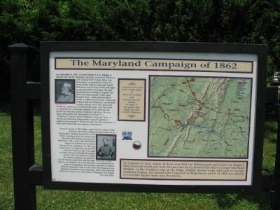 Lost Orders Marker left panel with detailed map of The Maryland Campaign of 1862 as well as specific information about Generals Lee & McClellan