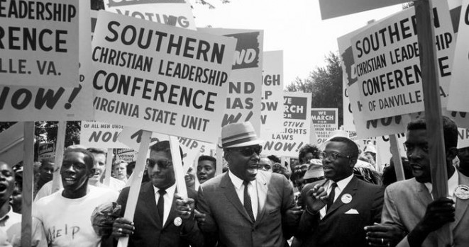 Many civil rights groups worked with the SCLC and garnered their support for protests that took several forms including: marches, sit-ins, and boycotts.