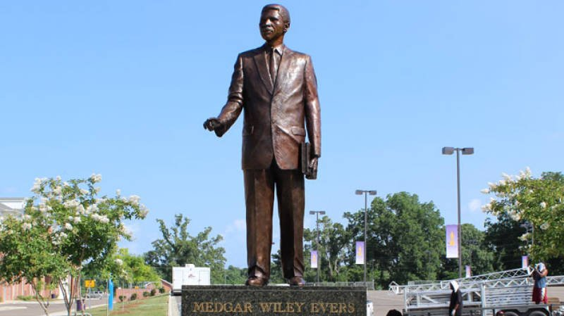 This 13-foot tall statue was dedicated in 2013