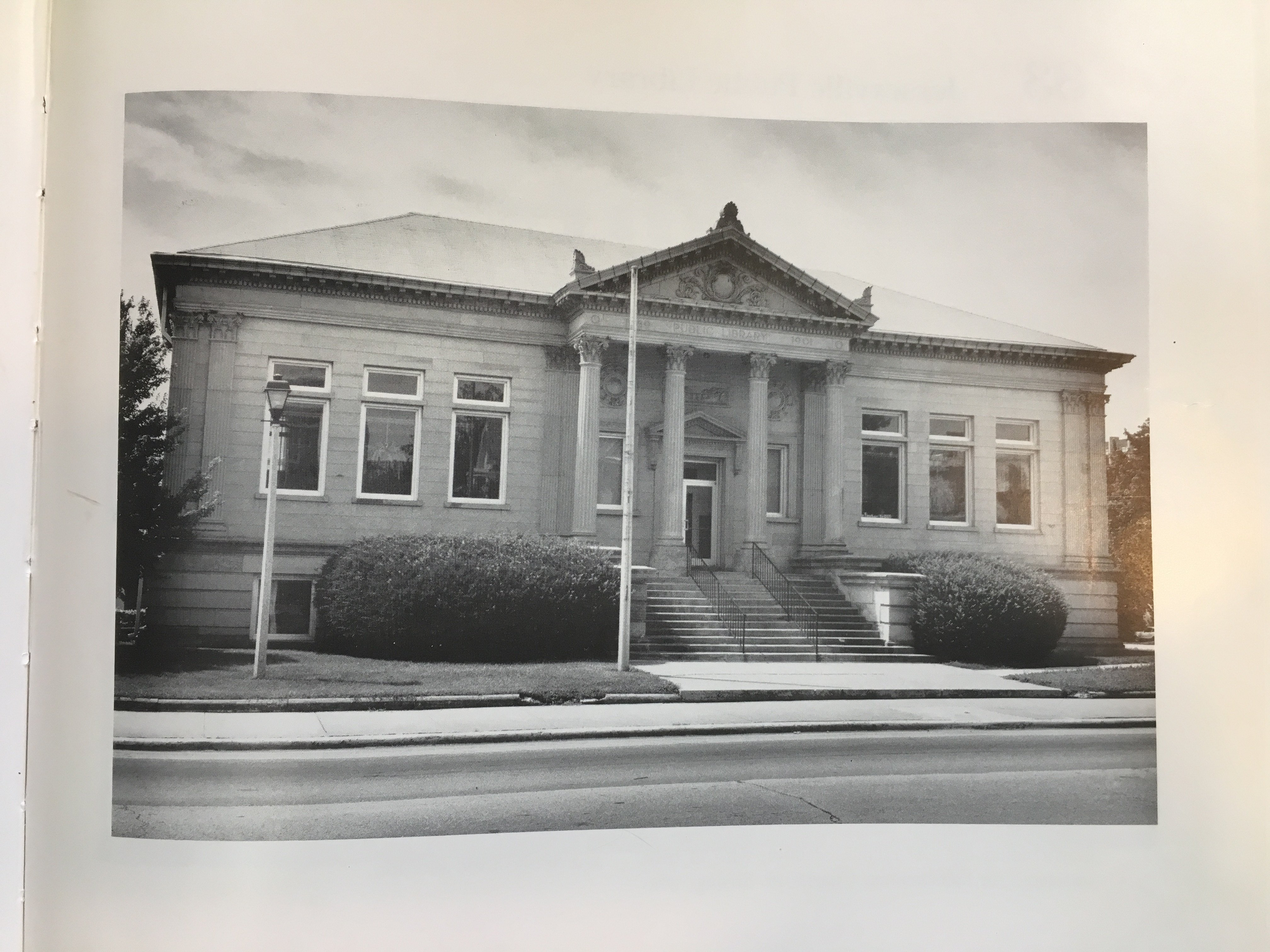 This photograph of the Public Library comes from the book written by Raymond and Linda Bial and was photographed by Raymond Bial.