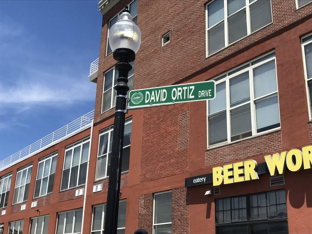 David Ortiz Drive sign