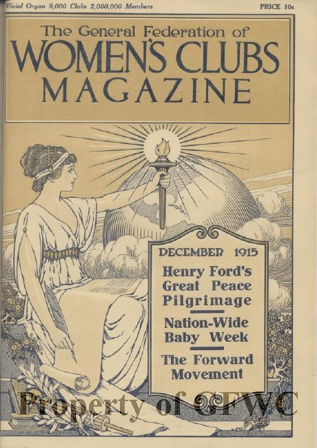 An early GFWC magazine circulated to its members. Courtesy of the General Federation of Women's Clubs.