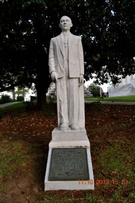 The Albert L. Patterson statue is located on the north end of the Alabama State Capitol building.