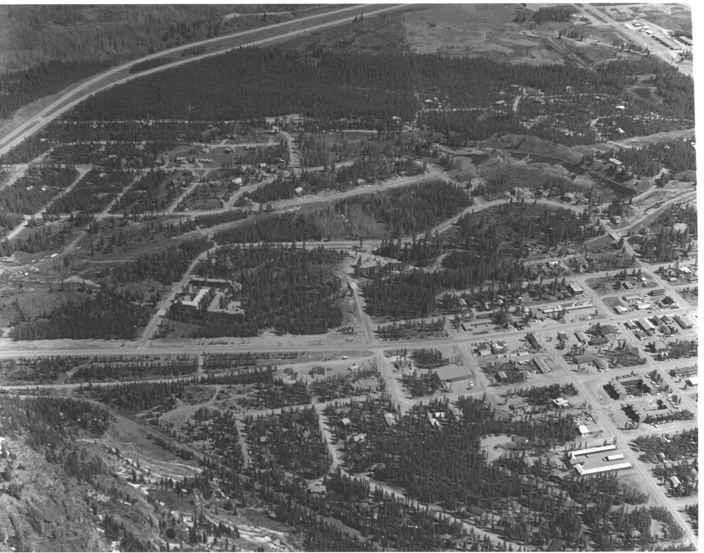 An aerial shot of Frisco, Circa Summer, 1977. Can you spot the Frisco Schoolhouse?