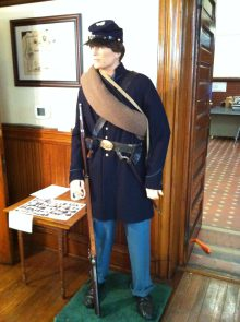 An example of a Union Soldier during the Civil War displayed at the museum