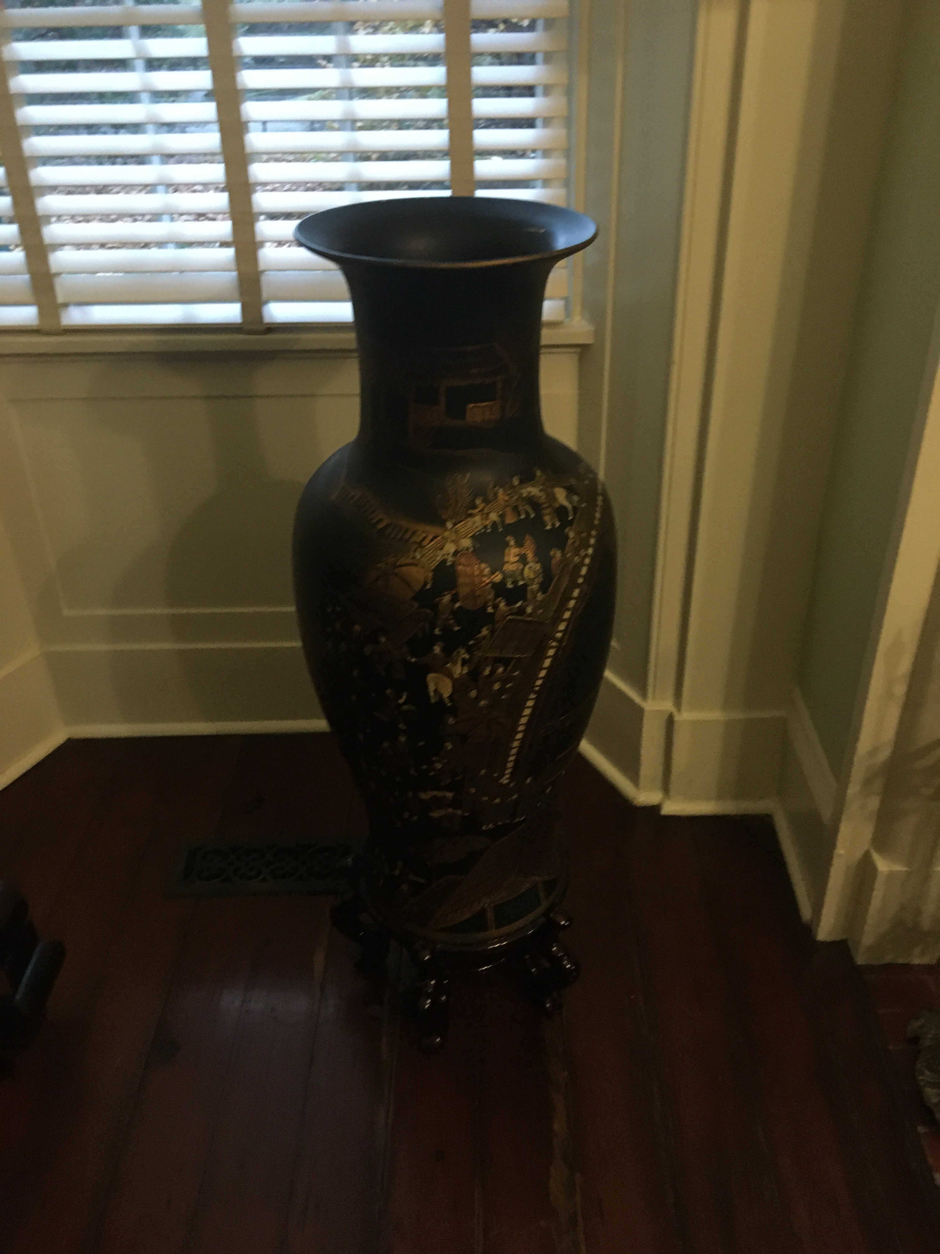Foreign made vase, possibly from China, extremely Old